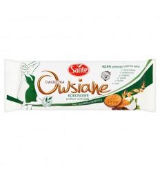 Ciasteczka owsiane kokosowe podlane czekoladą Sante 170g