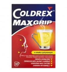 Coldrex Max Grip cytrynowy 10 saszetek