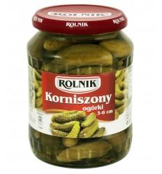 Ogórki Korniszony 3-6cm Rolnik 720ml